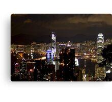 Night on the City II - Hong Kong. Canvas Print