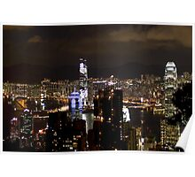 Night on the City II - Hong Kong. Poster