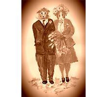 The Guinea Pig Wedding (Sepia) Photographic Print