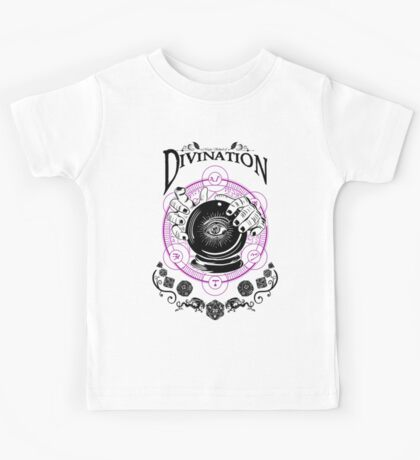 Divination - D&D Magic School Series : Black Kids Tee