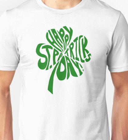 Happy St Patrick's Day Shamrock Unisex T-Shirt