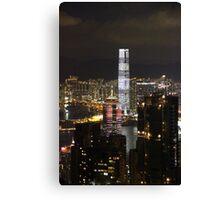 Night on the City III - Hong Kong. Canvas Print
