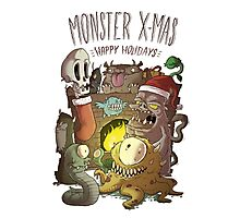 Monster Christmas Photographic Print