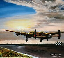 Lancaster evening takeoff. 582 sqdn by Woodie