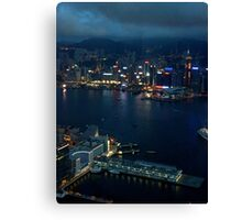 Night on the City VI - Hong Kong. Canvas Print