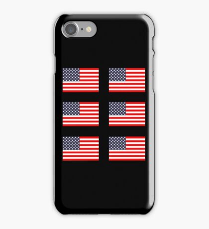 Six 6 American Flags iPhone Case/Skin