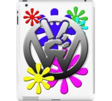 VW Peace hand sign with flowers iPad Case/Skin