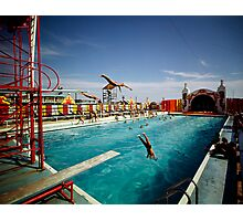 Aqua Circus Pool and Divers at Sportland Pier in Wildwood New Jersey - 1960's Photographic Print
