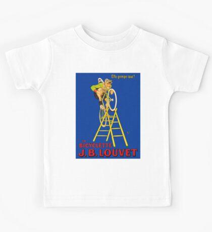 BICYCLE; Vintage J. B. Louvet Advertising Print Kids Tee