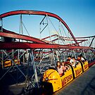 Meteor Roller Coaster Ride - Sportland Pier Wildwood, NJ - 1960's by aladdincolor