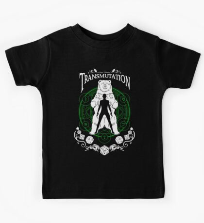 Transmutation- D&D Magic School Series : White Kids Tee