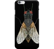 Bedazzled House Fly / black background iPhone Case/Skin