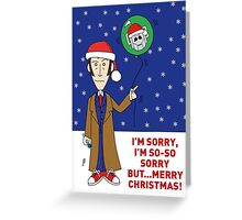 A Tenth Doctor Who themed Xmas Card 2 Greeting Card