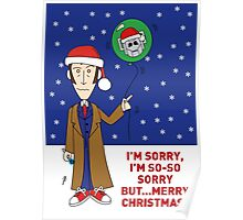 A Tenth Doctor Who themed Xmas Card 2 Poster