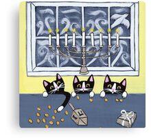 Hanukkah Kitties Canvas Print