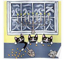Hanukkah Kitties Poster