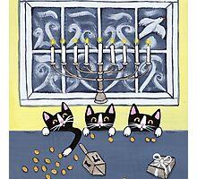Hanukkah Kitties Photographic Print