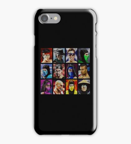 Mortal Kombat 2 - Character Select - Dirty iPhone Case/Skin