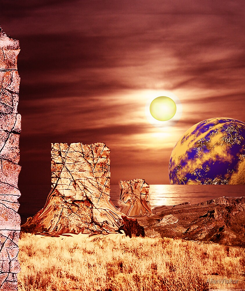 Rockface Pillars of Librach Nova. by AlienVisitor