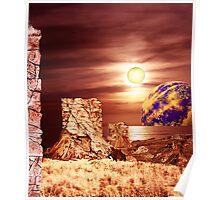 Rockface Pillars of Librach Nova. Poster