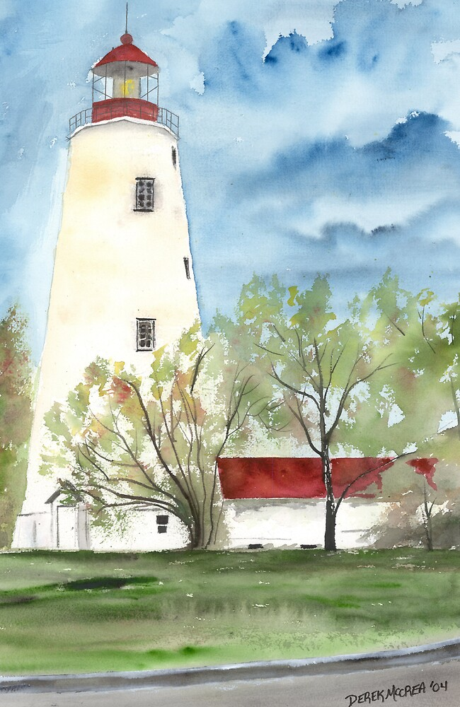 Sandy Hook 2 Fine Art Lighthouse Poster Print by derekmccrea