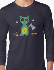 Cute Monster with Headless Teddy Long Sleeve T-Shirt