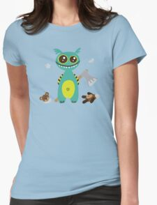 Cute Monster with Headless Teddy Womens Fitted T-Shirt