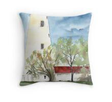 Sandy Hook 2 Fine Art Lighthouse Poster Print Throw Pillow