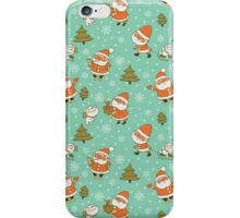 Santa and Teddy Bear Christmas Pattern. Merry Christmas! iPhone Case/Skin