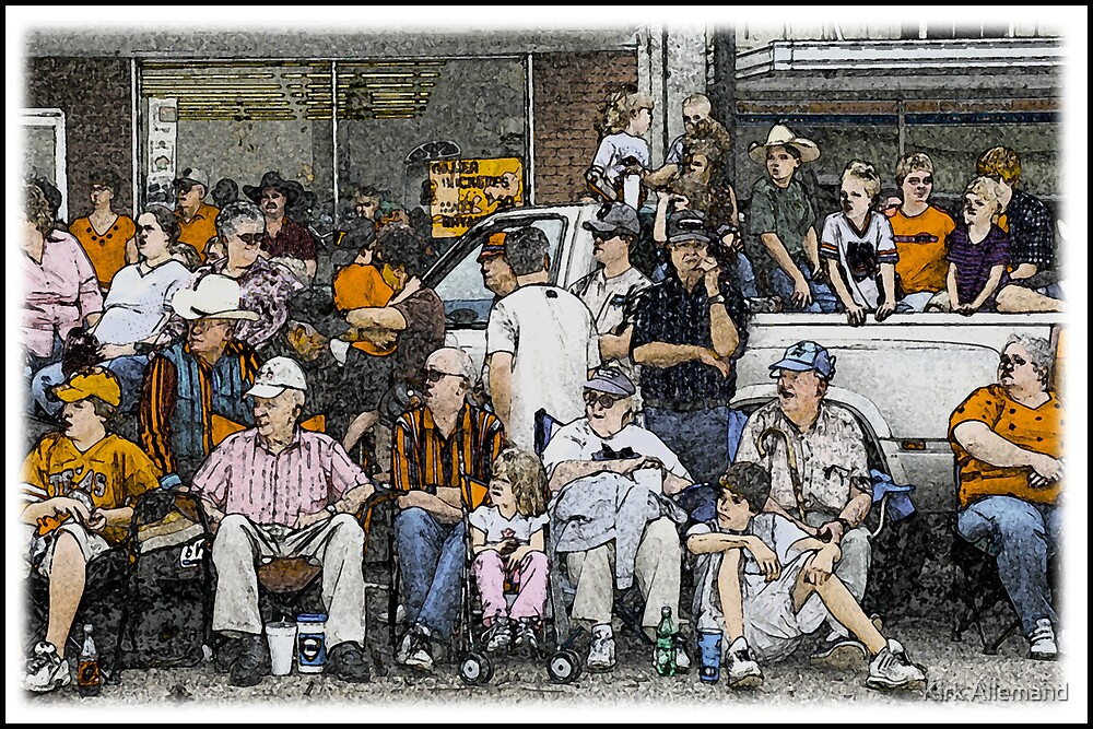 East Texas Yamboree Parade Crowd by Kirk Allemand