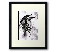 demon fairy Framed Print