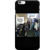Hipster Airline Pilot  iPhone Case/Skin