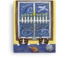 Hanukkah Cats Canvas Print