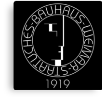 Bauhaus (Art School) - Logo 1919 Canvas Print