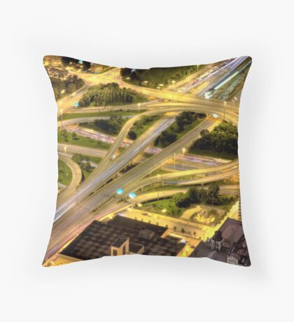 Chicago Loop from Sears Tower. Throw Pillow