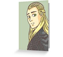 Legolas Greenleaf: Lord of the Rings Greeting Card