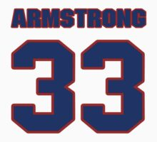 National baseball player George Armstrong jersey 33 by imsport