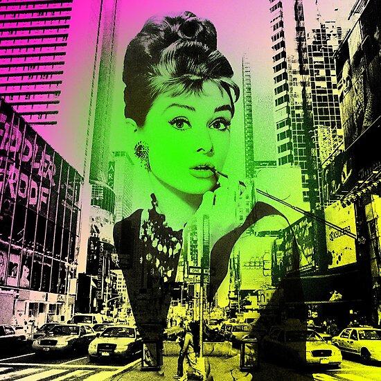 Audrey Hepburn Pop Art  by Oliver Marcetic