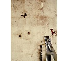 Chain, Tape, Hook Photographic Print