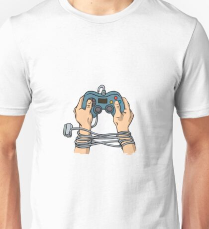 Hands tied by wire  Unisex T-Shirt