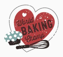 World Baking Champ cupcake whisk bakery t-shirt Kids Clothes