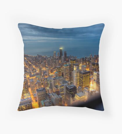 Looking Northeast from Sears Tower, part deux. Throw Pillow
