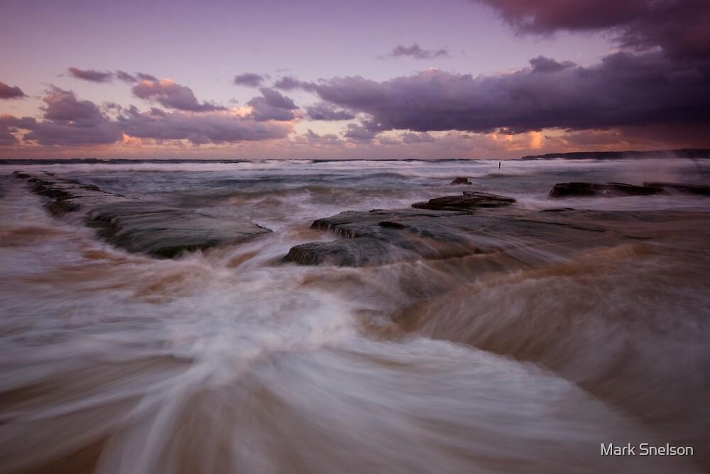 Bar Beach at Dusk 5 by Mark Snelson