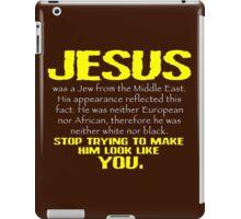 Jesus Was a Jew - Gold/White iPad Case/Skin