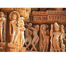 Khajuraho, birthplace of the Karma Sutra Photographic Print