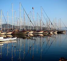 Reflections in Fethiye Turkey by gregw