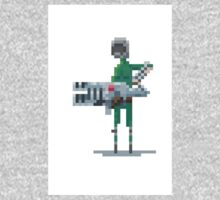 Green doomguy pixelart tribute Kids Clothes