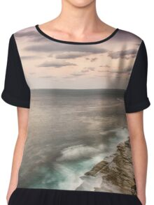 Cliffs Over Shelly Beach Chiffon Top