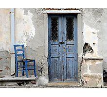 Blue Decay Santorini Photographic Print