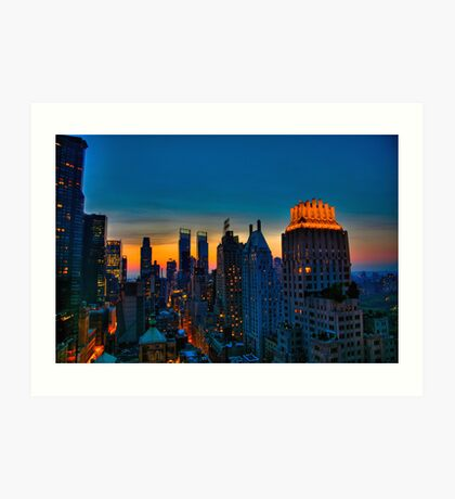 Looking West from 6th Street, NYC, part deux. Art Print